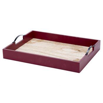 Cosy @ Home Tablett Bordeaux 39x29xh6,4cm Holz