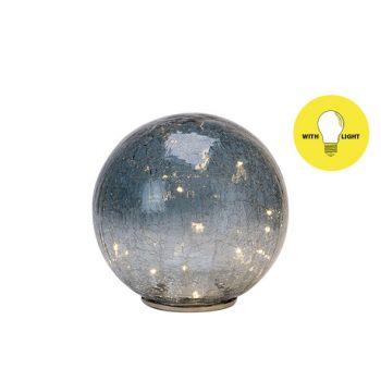 Cosy @ Home Ball Led Graublau 20x20xh43cm Glas