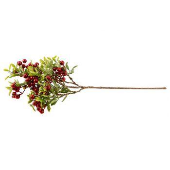 Cosy @ Home Beere Zweige Glitter Red Grun 40cm