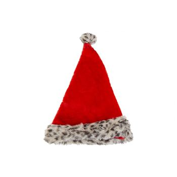 Cosy @ Home Weihnachtsmutze Leopard Rot D9 30x4xh45c