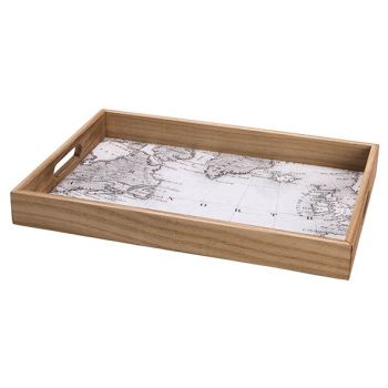 Cosy @ Home Tablett Map Natural 25x36xh4cm Holz