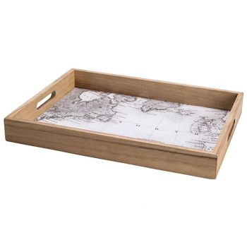 Cosy @ Home Tablett Map Natural 40x30xh5cm Holz