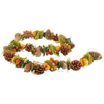 Cosy @ Home Girlande Kurbis With Pine Cone Orange 15