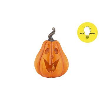 Cosy @ Home Kurbiskopf Face Orange 9,5x9xh13,5cm Ova