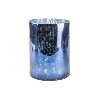 Cosy @ Home Tl Halter Houses Dunkel Blau 180x240cm