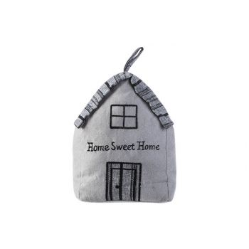 Cosy @ Home Turstopper Home Sweet Home Grau 16x12xh2