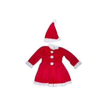 Cosy @ Home Weihnachtsmannkostum Girls 2pcs 6-8y Rot
