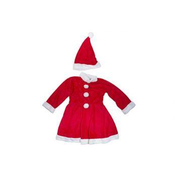 Cosy @ Home Weihnachtsmannkostum Girls 2pcs 4-6y Rot