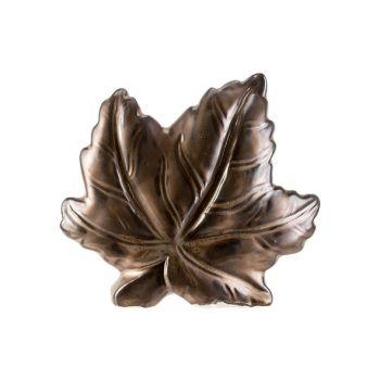 Cosy @ Home Blatt Braun 15,8x4,8xh14cm Keramik