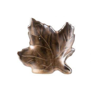 Cosy @ Home Blatt Braun 10x3xh9cm Keramik