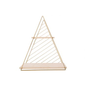 Cosy @ Home Decorack Triangle Gold 37,5x11xh42cm Met
