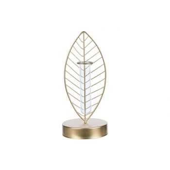 Cosy @ Home Vase 1 Glass Tube D3,5h12 Cm Gold 10,5x1