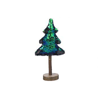 Cosy @ Home Weihnachtsbaum Paillet Blaugrun 7x14xh29