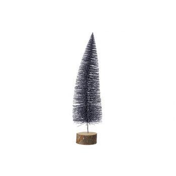 Cosy @ Home Baum Auf Fuss Glitter Dunkel Grau 10x10x