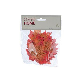 Cosy @ Home Streudeco Set24 Leaf Orange 15x1xh16cm K