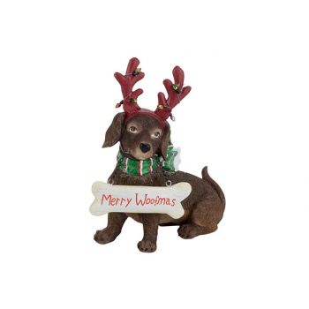 Cosy @ Home Hund Antlers Red Braun 18,8x8,6xh20,7cm