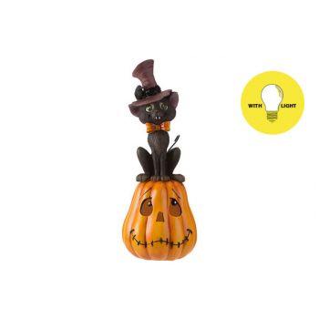 Cosy @ Home Kurbisse Cat With Hat Orange 14x14xh35,6