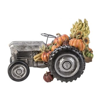 Cosy @ Home Figurine Tractor Grau 37,5x22,7xh24,3cm