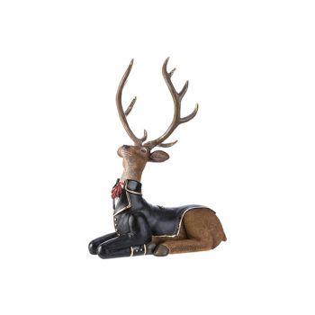 Cosy @ Home Deer Lying Braun 30,4x20xh33cm Resin