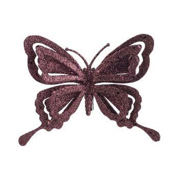 Cosy @ Home Clip Schmetterling Glitter Bordeaux 14x2