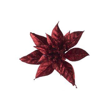 Cosy @ Home Weihnachtsstern Klammer Glitter Rot D15c