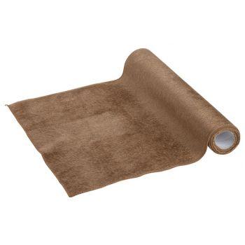 Cosy @ Home Tischlaufer Hairy Cognac 35x200cm Textil