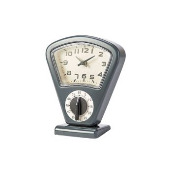 Cosy & Trendy Timer + Uhr Grau 17,5x10xh21cm