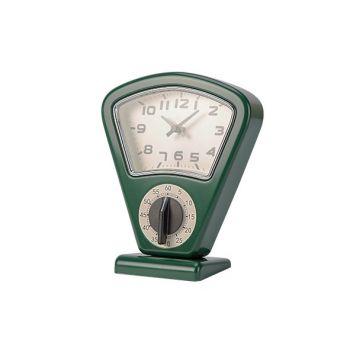 Cosy & Trendy Timer + Uhr Grun 17,5x10xh21cm