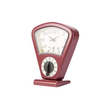 Cosy & Trendy Timer + Uhr Rot 17,5x10xh21cm