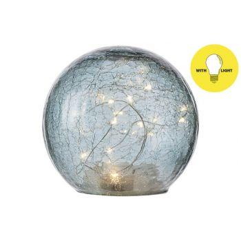 Cosy @ Home Ball Led Lamp Blau D15xh14cm Glas