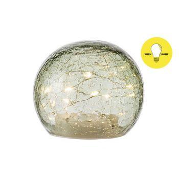 Cosy @ Home Ball Led Lamp Grun D12xh10cm Glas