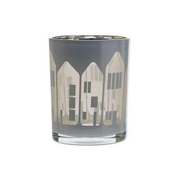 Cosy @ Home Teelichthalter Houses Weiss 10x10xh12,5c