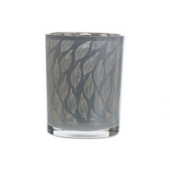Cosy @ Home Teelichthalter Leaf Weiss 10x10xh12,5cm