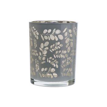 Cosy @ Home Teelichthalter Eucalyptus Weiss 10x10xh1