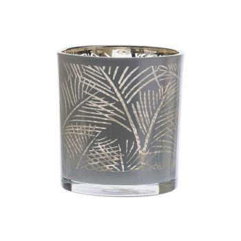 Cosy @ Home Teelichthalter Jungle Weiss 7,3x7,3xh8cm