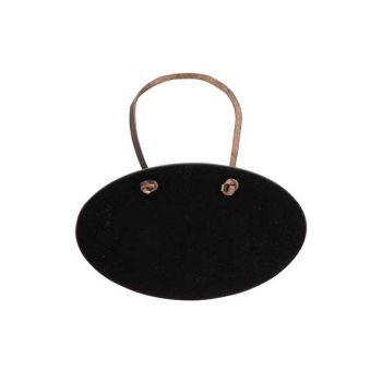 Securit Tag Set6 Bottle Neck Hanger Black Oval