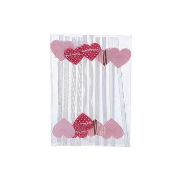 Cosy & Trendy Trinkhalm Happy Valentine Set10