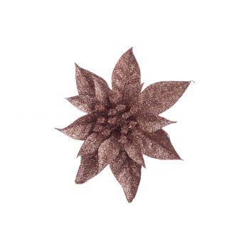 Cosy @ Home Weihnachtsstern Klammer Glitter Rosa D15