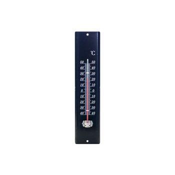 Cosy & Trendy Thermometer Metal 29.5x7cm Black