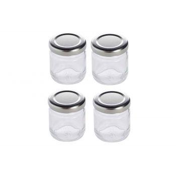 Cosy & Trendy Einmachglas 50ml Set4 Silver