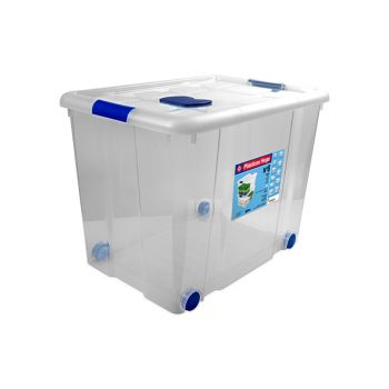 Hega Hogar Box On Wheels 86l Transparant Nr8