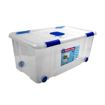 Hega Hogar Box On Wheels 61l Transparant Nr7