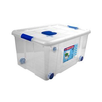 Hega Hogar Box On Wheels 57l Transparant Nr5