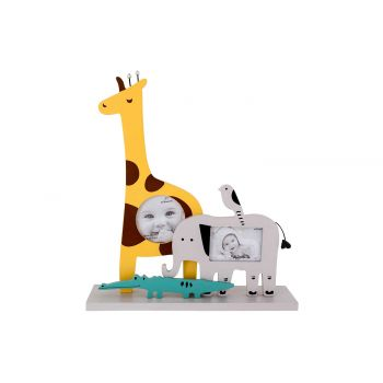 Cosy @ Home Pell Mell Zebra Giraffe Gelb 23x6xh26cm