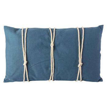 Cosy @ Home Kissen Rope Blau 30x50xh10cm Baumwolle