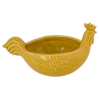 Cosy @ Home Huhn Bowl Sand 15,8x10,3xh8,8cm Langlich