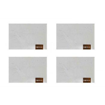 Boska Choco Marble Plates Rectangular Set4