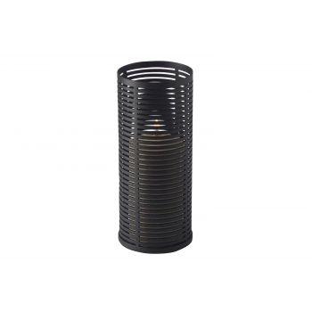 Candola Ubi Candleholder Black -copper 15cm