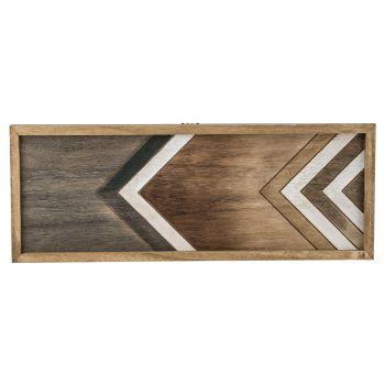 Cosy @ Home Tablett Natural Rechteck Holz 50,5x3xh19