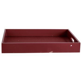 Cosy @ Home Tablett Velvet Bordeaux 40x30xh5cm Recht